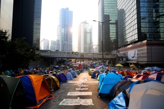 The morning in occupy site